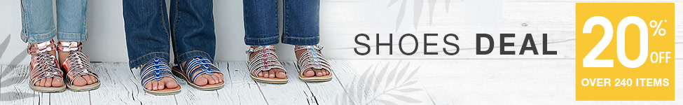 shoes deal 20%OFF* over 240 items