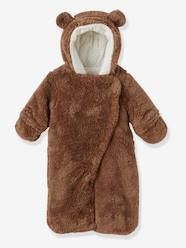 Newborn Faux Fur Convertible Snowsuit