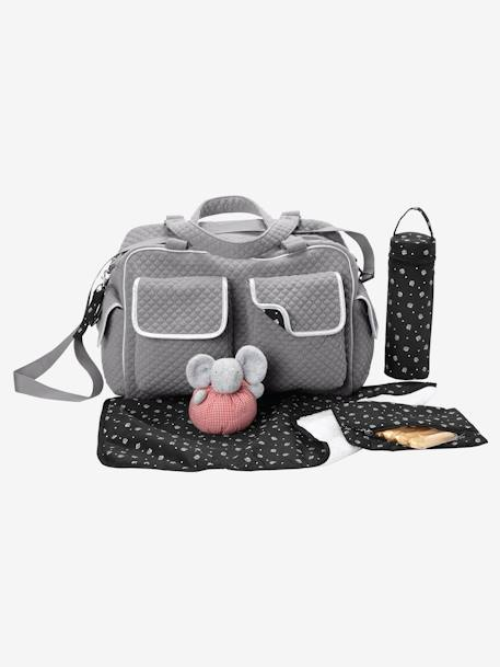 Changing bag Ash grey / dot+Dark grey+GREY DARK TWO COLOR/MULTICOL+Taupe / print