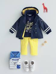 Baby-Outfits-Baby Boys Fleece Sweatshirt + Twill Trousers Outfit Set