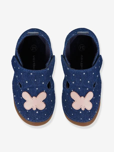 Girls Canvas Slippers Ink / butterfly