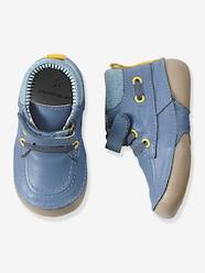 Shoes-Baby Footwear-Boys Denim & Leather Boots, Designed For Crawling Babies