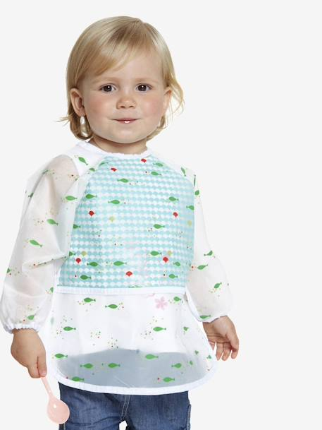 Long-sleeved Bib White / print