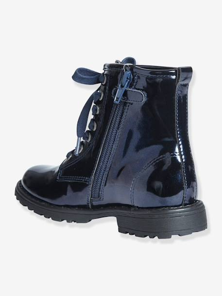 Girls Boots Metallic navy