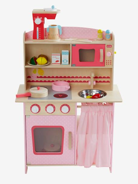 Large Wooden Play Kitchenette Pink
