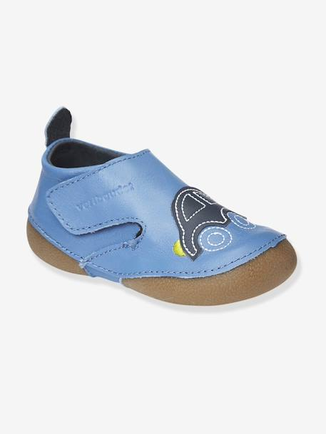 Babys Non-Slip Bootees Blue / car+Grey / teepee