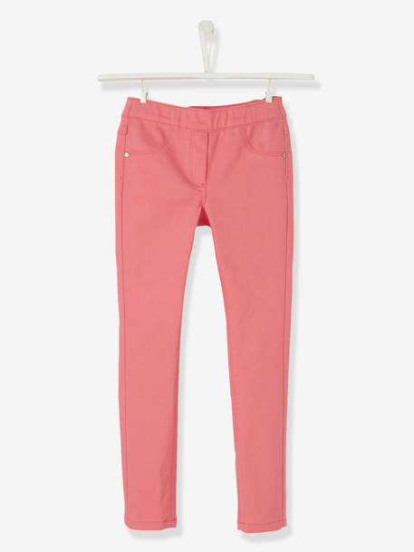 Girls' Plain Treggings GREEN DARK SOLID+GREY DARK SOLID+Light blue+Pink+PINK LIGHT SOLID