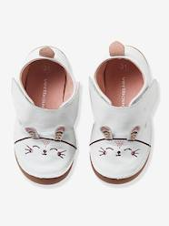 Shoes-Baby Footwear-Slippers-Baby Girls Non-Slip Leather Slippers with Ears