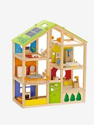 Large Furnished Wooden Dollhouse Set