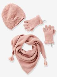 Girls' Hat, Scarf& Mittens or Gloves Set