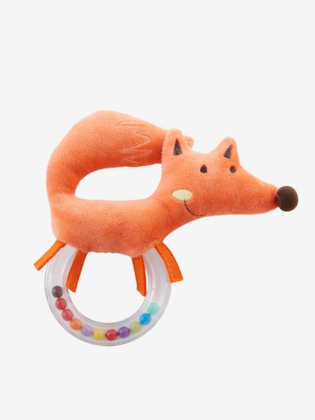 Plush Fox Rattle Orange