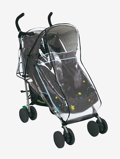 Vertbaudet Full Rain Cover for Pushchair Printed animals+Transparent