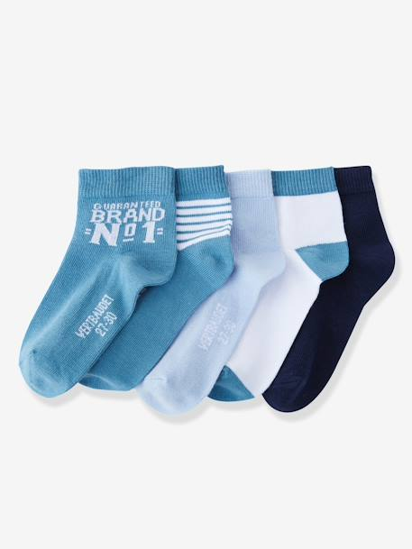 Pack of 5 Pairs of Trainer Socks Grey pack+Greyish blue pack+Red pack