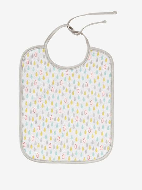 Pack of 7 Bibs Assorted stars/raindrops+Fruit