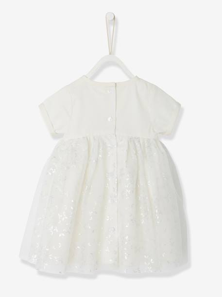 Baby Girls Dress PINK LIGHT ALL OVER PRINTED+WHITE LIGHT ALL OVER PRINTED