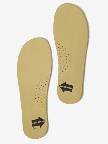 Pair of Leather Insoles White / print