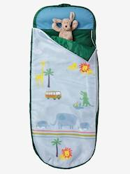 Furniture & Bedding-Child's Bedding-Readybed® Sleeping Bag with Integrated Mattress, Jungle Theme