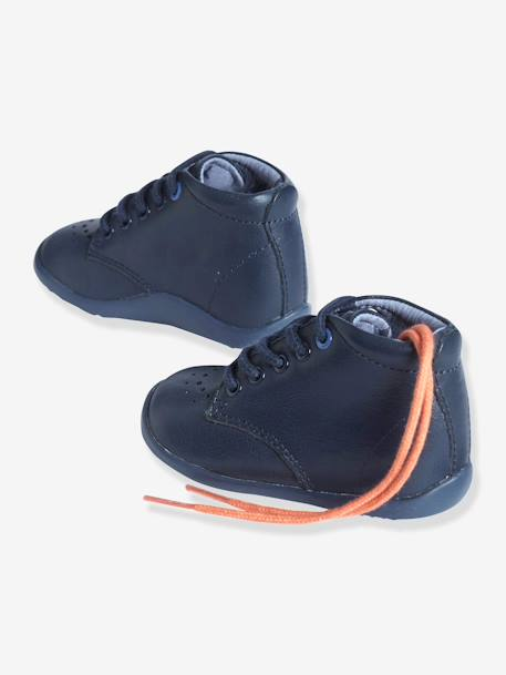 Boys First Steps Ankle Boots Navy