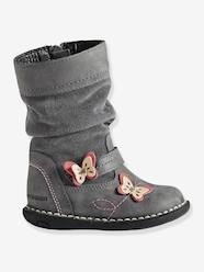 Shoes-Baby Footwear-Baby Girl Walking-Girls' Bi-Material Boots