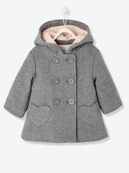 Baby-Outerwear-Baby Girls' Woollen Coat