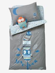 Furniture & Bedding-Baby Bedding-Duvet Covers-Baby Duvet Cover, Hey Owl! Theme