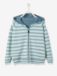 Boys-Cardigans-Boys' Reversible Knitted Cardigan