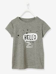 Girls-T-Shirts-Girls' Short-Sleeved T-Shirt with Slogan