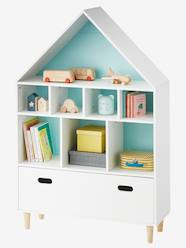 Storage & Decoration-Storages-House-Shaped Storage Unit with 9 Boxes