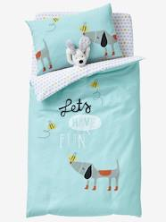 Furniture & Bedding-Baby Bedding-Duvet Covers-Baby Duvet Cover, Bee Happy Theme