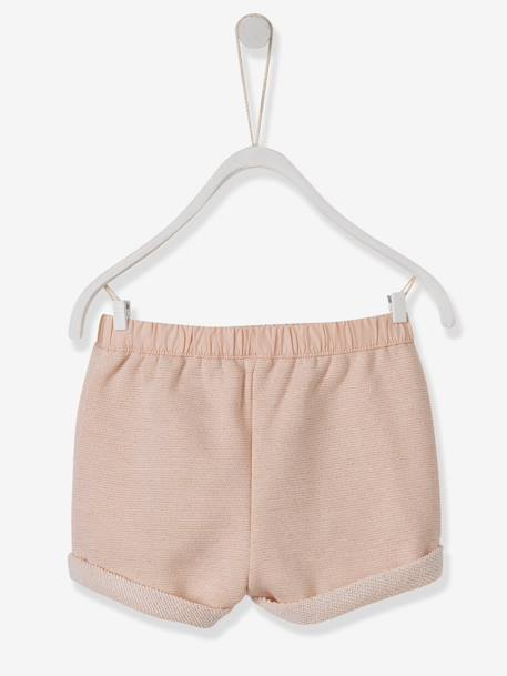 Baby Girls Shorts Anthracite+PINK LIGHT SOLID