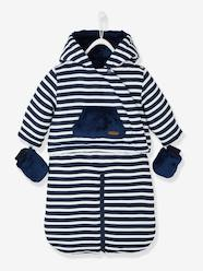 Baby Striped, Padded & Lined All-in-One