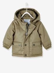 Baby-Outerwear-Baby Boys' Parka with Fleece Lining & Hood