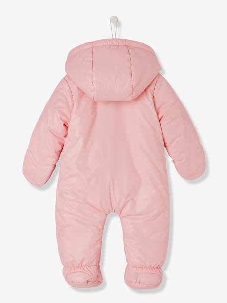 Baby Lined & Padded All-in-One with Face Motif GREY LIGHT SOLID WITH DESIGN+PINK LIGHT SOLID WITH DESIGN