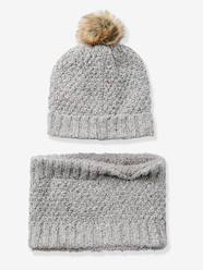 Girls-Accessories-Winter Hats, Scarves, Gloves & Mittens-Girls' Beanie + Snood Set