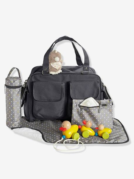 VERTBAUDET Day Changing Bag with Several Pockets Ash grey / dot+Dark grey+GREY DARK TWO COLOR/MULTICOL+Taupe / print