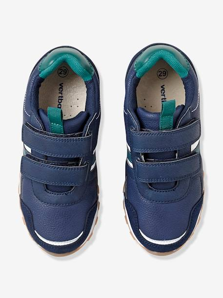 Boys' Touch 'N' Close Trainers BLUE DARK SOLID+GREEN MEDIUM ALL OVER PRINTED+GREY LIGHT SOLID
