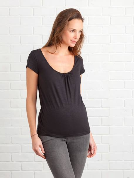 Maternity T-shirt, Embroidered on the Back BLACK DARK SOLID+BLUE DARK SOLID+GREEN DARK SOLID