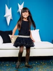 Girls' Sleeveless Tulle & Sequins Dress