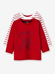 Pack of 2 Baby Girls' Long-Sleeved T-Shirts