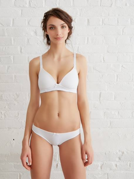 Padded Maternity & Nursing Bra Black+Grey marl+White