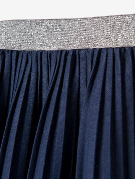 Girls' Pleated Skirt BLUE DARK SOLID