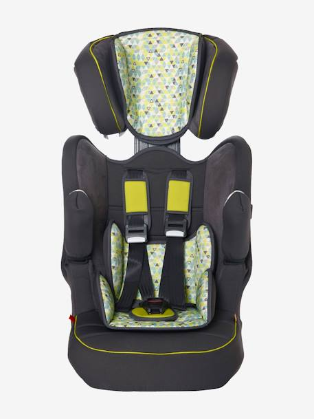 ISOFIX Car Seat - Group 1-2-3 Anthracite suede+Grey/star print+Multi print
