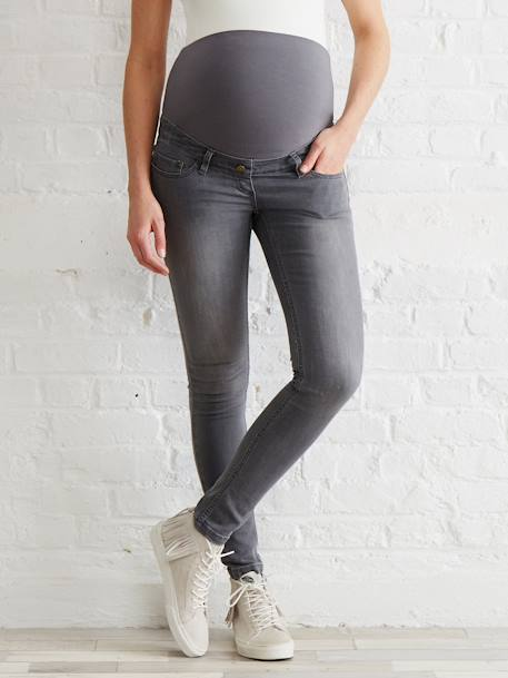 Long Maternity Skinny Jeans - Inside Leg 33' Black+BLUE DARK WASCHED+Grey+Untreated