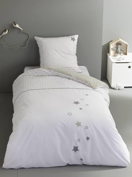 9 Cube Kids Pink White Toy Games Storage Unit Girls Boys: Duvet Cover & Pillowcase Set, Star Shower Theme, Furniture