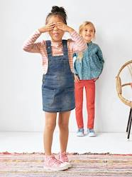 Girls Denim Pinafore Dress