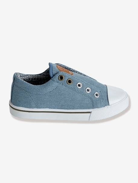 Canvas Trainers Denim blue+Orange+Printed navy