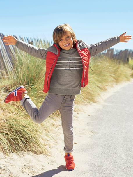 Boys Printed Sweatshirt Ecru marl+Grey marl