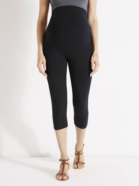 Short Maternity Leggings Black