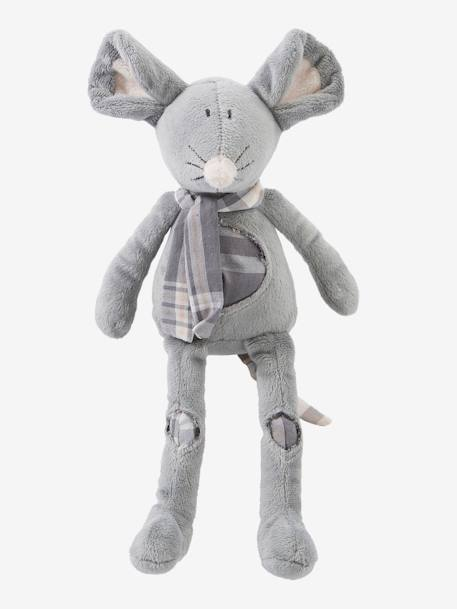 Plush Mouse Soft Toy Grey