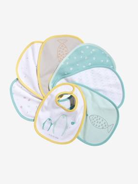 Vertbaudet Pack of 7 Newborn Bibs muticolour